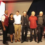 Our YMCA band with Jimmy Ervin, President, Velocity Communications (event producer).